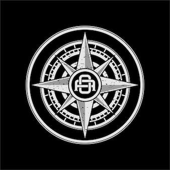 Logo bussola vintage