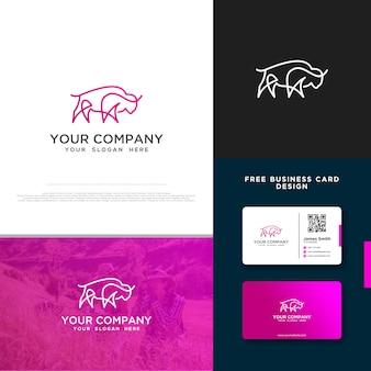 Logo byson con design biglietto da visita gratuito