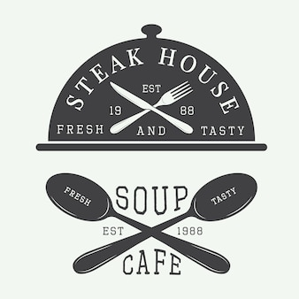 Logo café e steak house