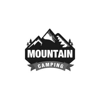 Logo camping mountain