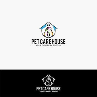 Logo casa di cura dell'animale