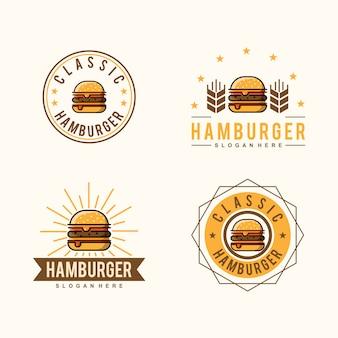 Logo classico di hamburger