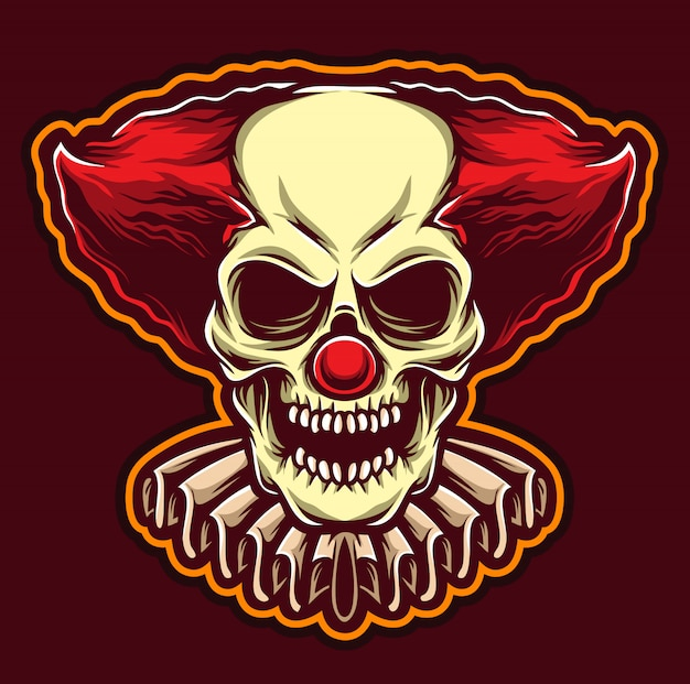 Logo clown spaventoso