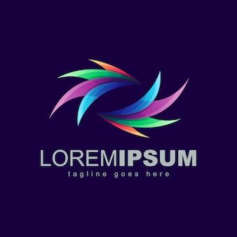 Logo colorato astratto