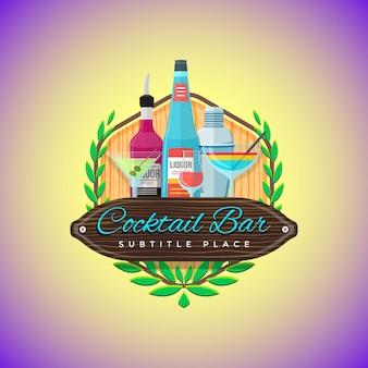 Logo colorato cocktail bar