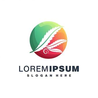 Logo colorato di cannabis