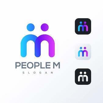 Logo colorato m design pronto per l'uso