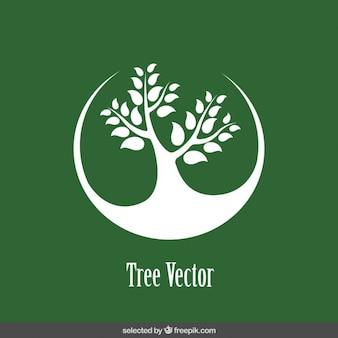 Logo con albero silhouette