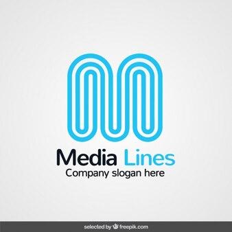 Logo con iniziale realizzata con linee curve