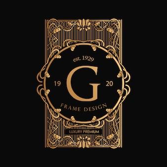 Logo cornice art nouveau