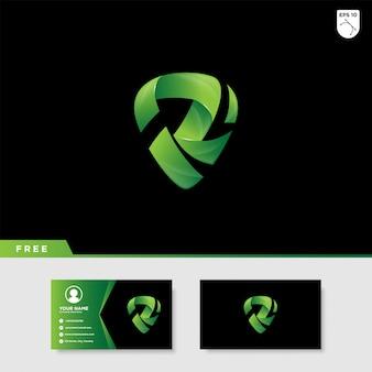 Logo creativo della lettera r