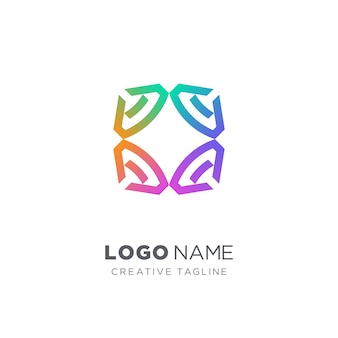 Logo creativo diamante colorato