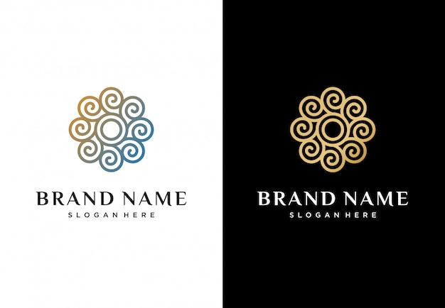 Logo creativo fiore astratto