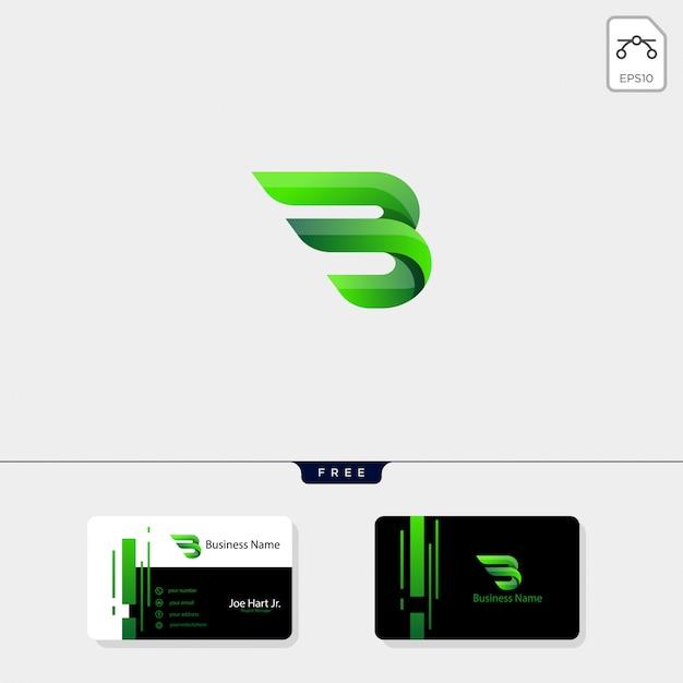 Logo creativo iniziale minimalista b wings
