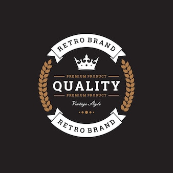 Logo creativo marchio retrò