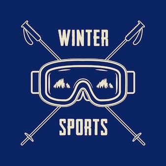 Logo degli sport invernali