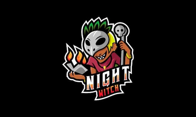 Logo degli sport notturni della strega