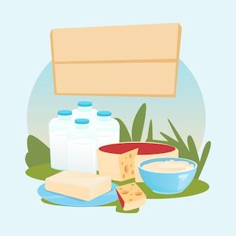 Logo dei prodotti lattiero caseari eco fresh farm