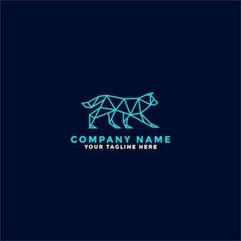 Logo del cane lowpoly