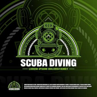 Logo del casco da immersione classico