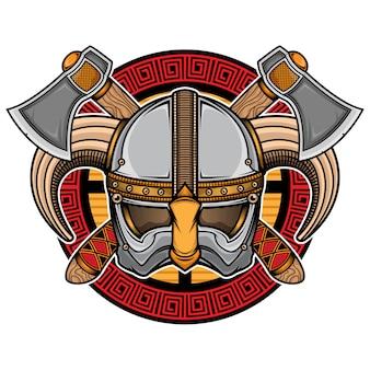 Logo del casco vichingo