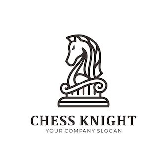 Logo del cavaliere degli scacchi, logo del cavallo