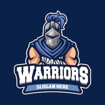 Logo del cavaliere guerriero sportivo