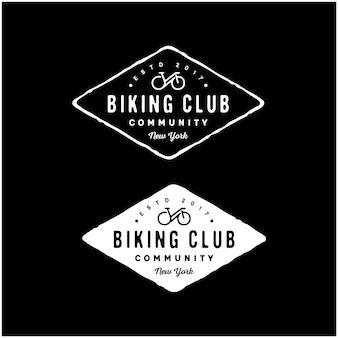 Logo del club di ciclismo per biciclette a vita bassa retrò vintage