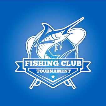 Logo del club di pesca per il torneo