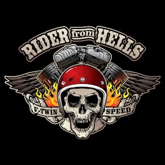 Logo del club motociclistico d'epoca