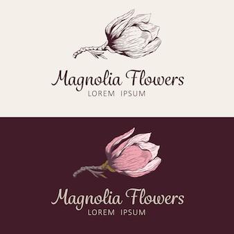 Logo del fiore di magnolia