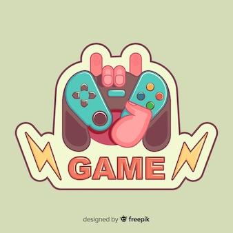 Logo del game pad disegnato a mano