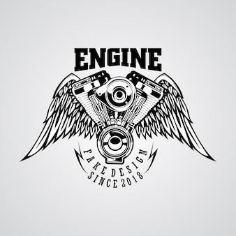 Logo del garage del motore