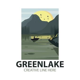 Logo del lago verde