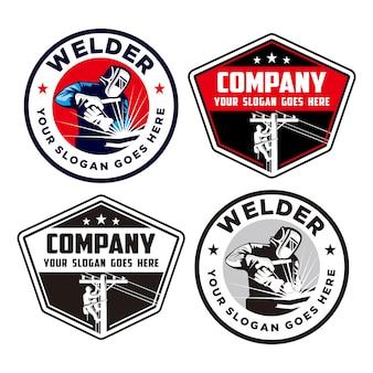 Logo del lavoratore, logo del saldatore e del guardalinee