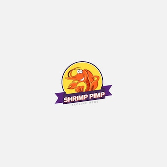 Logo del magnaccia di gamberetti