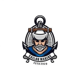 Logo del marinaio vintage