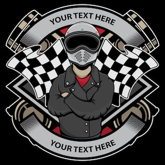 Logo del motociclista