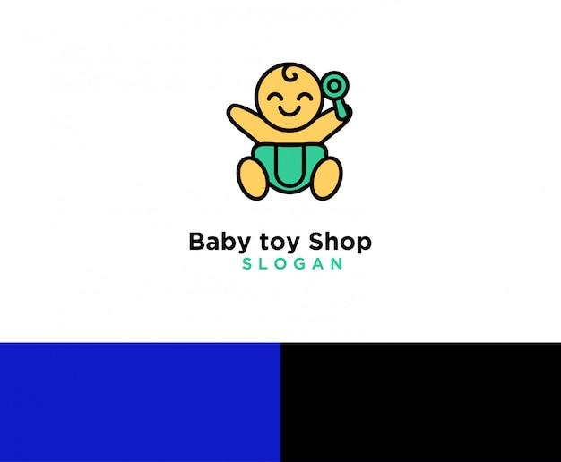 Logo del negozio di giocattoli per bambini