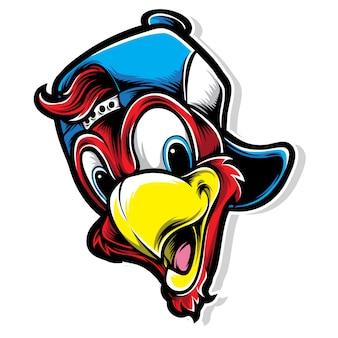 Logo del pappagallo funky