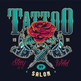 Logo del salone del tatuaggio vintage
