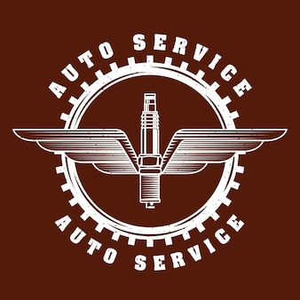 Logo del servizio di riparazione auto