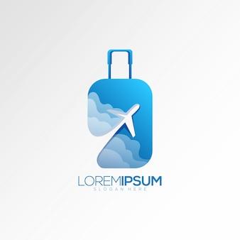 Logo dell'aeroplano della valigia