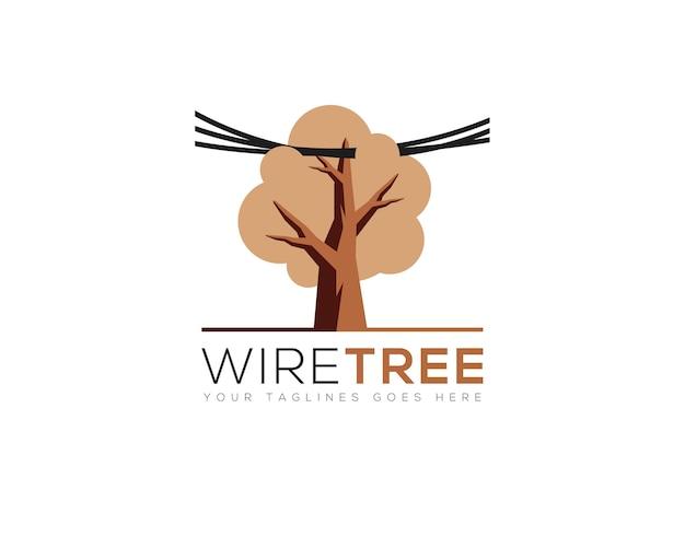 Logo dell'albero che attraversa il filo