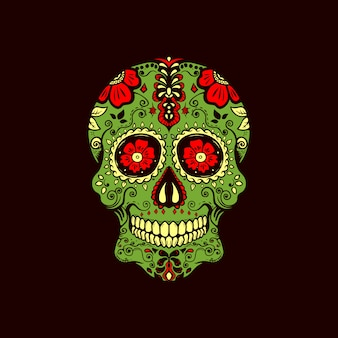 Logo dell'annata del cranio di zucchero