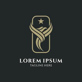 Logo dell'aquila di lusso