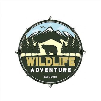 Logo dell'avventura della fauna selvatica