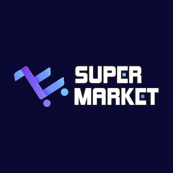 Logo dell'azienda di affari del carrello del supermercato