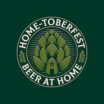 Logo dell'emblema della birra a casa