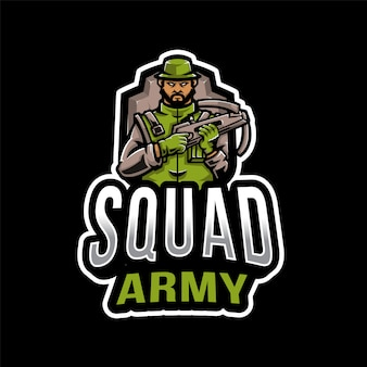 Logo dell'esport dell'esercito della squadra